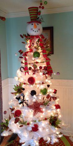 Snowman Christmas Tree Ideas
