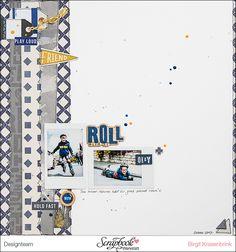 #layout mit der Serie Boys Fort von Pinkfresh Studio; SCRAPinFeACTed.de