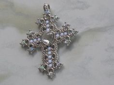 Silver Cross Charm Necklace