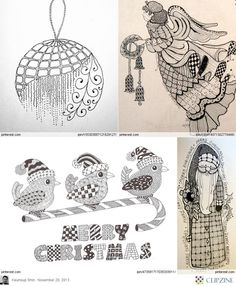 Christmas+Zentangle+Patterns