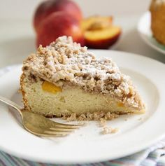 There really is nothing more welcoming than the smell of Spiced Peach Coffee Crumb Cake wafting through your house. This cake also keeps well, and can be frozen tightly wrapped.