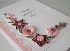 Quilled Mother's Day card paper quilling by PaperDaisyCards