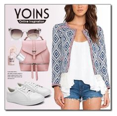 YOINS.com by monmondefou on Polyvore featuring polyvore fashion style Benefit Linda Farrow clothing yoins