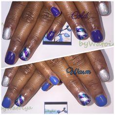 Wondrous Nail Creation byWatoiya #nails #naturalnails #soakoffgelnails #moodpolish #bluenails #purplenails #bywatoiya #bbtsalon