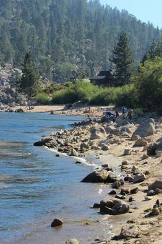 summers at Big Bear Lake, CA.