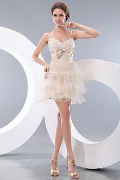 Luxury Ivory Tulle Celebrity Dress - Order Link: http://www.theweddingdresses.com/luxury-ivory-tulle-celebrity-dress-twdn0986.html - Embellishments: Layered , Ruffles; Length: Short; Fabric: Tulle; Waist: Natural - Price: 137.16USD