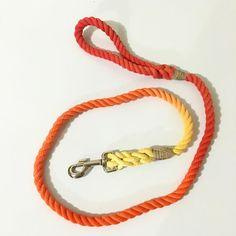 4ft red/orange/yellow  #ombré #etsylove #etsystore #etsyshop #etsyseller #etsyhandmade #rope #ropeleash #dog #diy #dogs #dogleash #dogsofinstagram #dogstagram #rope #ropeleash by gypsy.canine