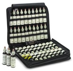 Complete Kit in Leather Carrying Case: is beautifully crafted and durable, made of genuine black leather, the kit is portable, light and holds all 20ml remedies.