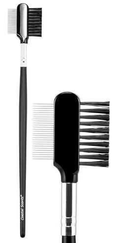 The ideal way to eliminate clumps and flakes is with the Lash Comb. The firm, metal teeth of the comb help to evenly separate lashes and remove built-up mascara, while the synthetic bristled brush grooms and shapes brows. Brow Brush, Makeup Brush Set, Hair Brush, Mascara Brush, Drugstore Makeup Dupes, Beauty Dupes, Coastal Scents, Makeup Sale, Hair