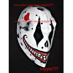 RARE vintage style fiberglass NHL ice hockey goalie face mask helmet - custom made The Joker HO53