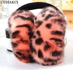 Flute Red Beauty Chinese Painting Winter Earmuffs Ear Warmers Faux Fur Foldable Plush Outdoor Gift