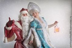 Купить или заказать Дед Мороз и Снегурочка в интернет-магазине на Ярмарке Мастеров. Костюм Дедушки Мороза включает в себя: шубу с красивым двойным рукавом, пелерину, шапку, пояс, рукавицы и, конечно же, мешок для подарков. Костюм сшит из красивой парчи на подклатке, оторочен мехом- такой костюм выглядит очень богато и красиво Костюм Снегурочки- костюм стилестически очень подходит к костюму Дедушки Мороза, в костюм входит платье, к сожалению, кокошники я не делаю!