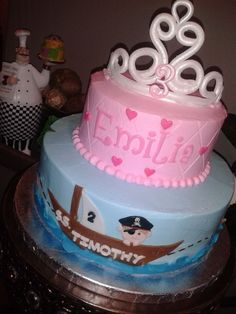 Princess / Pirate Cake | by Skye's Delights