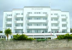 The famous Cumberland perched on the Bournemouth East Cliff
