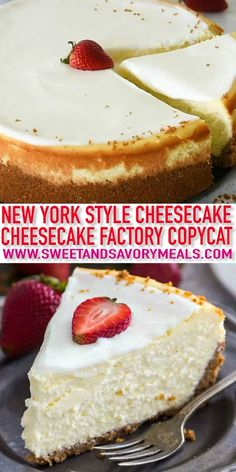 Cheesecake Factory Original Cheesecake Copycat Recipe so you can make it at home anytime you crave it. This is a luxurious and creamy cheesecake with a graham crust and sour cream topping. Cheese Cake Factory, The Cheesecake Factory, Köstliche Desserts, Health Desserts, Dessert Recipes, Famous Desserts, Irish Desserts, Indian Desserts, Homemade Cheesecake