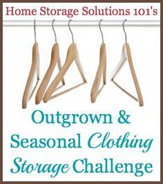 Outgrown & Seasonal Clothing Storage Challenge