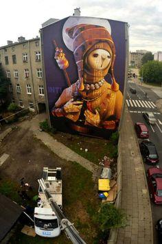 """""""Holy Warrior"""" Lodz,Poland street"""
