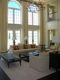 Extra Long Curtains Panels for High Windows/ Loft DraperyTreatment/Choice of Linen Fabric - per panel. $190.00, via Etsy.