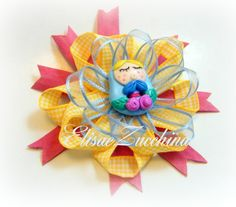 Handmade brooch with polymer clay button by www.elisaezucchina.blogspot.it