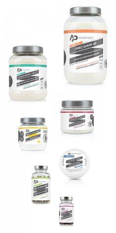 ThatDesignerJim-packaging-AnyProtein-100% Natural Health Supplement brand.