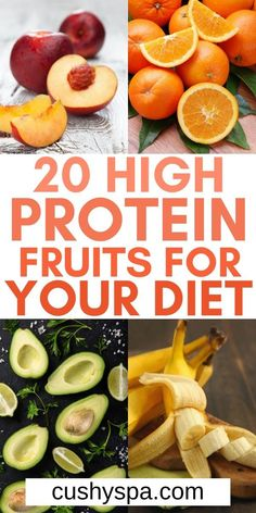 10 High Protein Fruits To Include in Your Diet - Looking for high protein snacks? These high protein fruits are the perfect healthy snacks you can h - High Protein Fruit, High Protein Smoothies, Protein Rich Foods, High Protein Low Carb, High Protein Recipes, Fruits With Protein, High Protein Vegan Snacks, Protein Cake, Protein Cookies