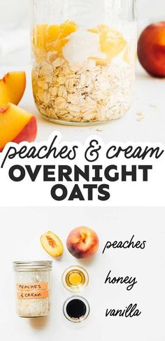 Learn the basics of overnight oats with seven delicious flavor options, from piña colada and peaches & cream to salted caramel and cookie dough! It's a flavor packed breakfast idea that's healthy and perfect for the whole family! Healthy Recipes On A Budget, Vegetarian Recipes Easy, Clean Eating Recipes, Budget Meals, Healthy Vegetarian Breakfast, Vegan Breakfast Recipes, Healthy Food, Plant Based Breakfast, Overnight Oats