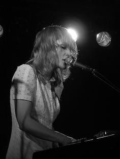 Emily Maines of Metric. Great Canadian lyricist and performer.
