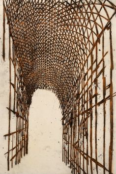 Tony Bevan, Open Corridor, 2000, Charcoal and Acrylic on Canvas, 269cm x 178cm