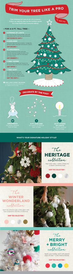 Trim Your Tree Like A Pro by west elm  - who knew!? 20ft string of lights for every foot of tree!?