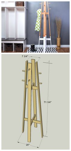 Not everyone has space for a mudroom, but everyone does need a place to hang coats and hats when they come in the door. With this coat rack, you'll get that hanging space without taking up floor space. At less than 2-feet wide and 6-feet tall, its compact size makes it easy to fit almost anywhere. Find the FREE PLANS for this project and many others at buildsomething.com
