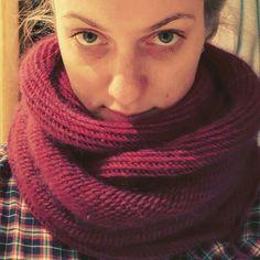 Crosshatch cowl. Purlsoho. Norka yarn.