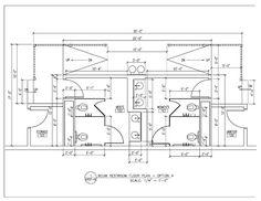 Public Restroom Layout Bathroom stall dimensions - Bathroom floor ...