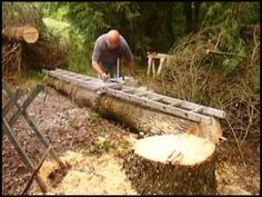 Have you ever wanted to cut lumber from your trees? For a small outlay and using your own chainsaw you can produce all the joists, boards and timber you want. If I can do it at nearly 72 then anyone can. Take a look at both of these videos to see how easy it is