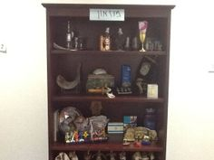 """Judaica- A Jewish classroom must have Judaica displayed! In my classroom I have a class """"museum"""" with Judaica items for Shabbat, Tefillin, talit, tzedakah, and many other holiday items. Children are curious, ask questions, bring their personal items for temporary display and learn indirectly."""