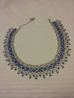 Size 10 seed bead lace necklace