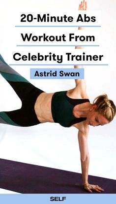 Celebrity trainer Astrid Swan shares her best 20-minute abs workout with us and you're going to love it! Building strong abdominals and increasing core strength is important because it can help you run faster, lift heavier, and balance better, plus improve your posture and help fight low-back pain. What's not to love?