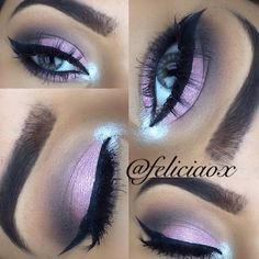 By MUA: feliciaox using her Party Girl After Hours Eyeshadow Palette. <3