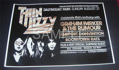 Thin Lizzy poster Dalymount Park Dublin Ireland 1977 Reprodution