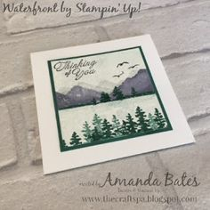 The Craft Spa - Stampin' Up! UK independent demonstrator : Waterfront Wednesday... on Watercolor Paper...