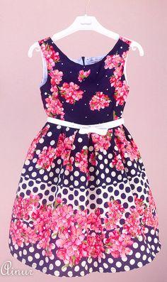 Cute kids dress-Flower girl dress age 6-7-event dress-kids spring summer dress-