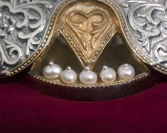 Details from Silver Reliquary with pearls. Byzantine Art, Pearl Necklace, Brooch, Pearls, Detail, Silver, Gold, Handmade, Jewelry