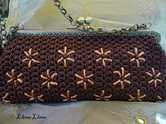 #bolsoboquilla #bolsocrochet #bolsobordado Bolso crochet bordado Irene