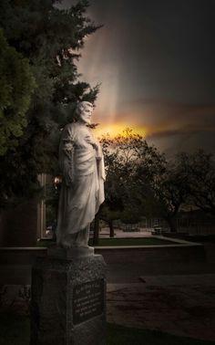 St Patric's College, Kimberley. #catholic #school #brothers #stjoseph #saint #statue www.gertjgagiano.co.za