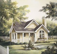 Cottage with Country Porch - 5794HA | 1st Floor Master Suite, Cottage, Narrow Lot, PDF | Architectural Designs