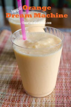 {Copycat} Jamba Juice Orange Dream Machine.  I have been making this for a week now for breakfast.  It is the real Jamba Recipe! :)