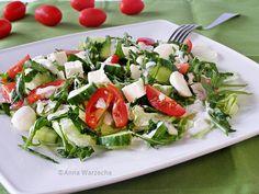 Sałatka z rukoli i sera Salad Recipes, Healthy Recipes, Healthy Food, Healthy Style, Caprese Salad, Healthy Lifestyle, Grilling, Food And Drink, Appetizers