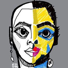 Cabezona022_dualidad_estudioI #cabezonasdeela #300cabezonasdeela #cabezonasdeela2017 #ilustración #illustration #caraqueños #migente
