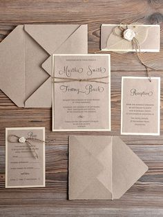Recycling Eco Wedding Invitation Country Wedding by by shauna Country Wedding Invitations, Handmade Wedding Invitations, Rustic Invitations, Wedding Menu, Wedding Stationary, Wedding Guest Book, Invitation Design, Wedding Cards, Diy Wedding