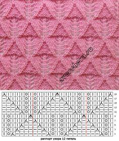 узор 694 | каталог вязаных спицами узоров