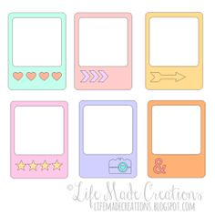 silhouette freebie Journal Stickers, Planner Stickers, Printable Stickers, Cute Stickers, Note Doodles, Instagram Frame, Frame Template, Bullet Journal Ideas Pages, Aesthetic Stickers